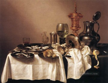 Still Life With Gilt Goblet Willem Claeszoon Heda Oil Paintings